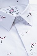 Sheldon White Slim Fit Untuckable Dress Shirt