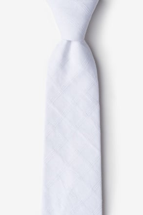 Tacoma White Extra Long Tie