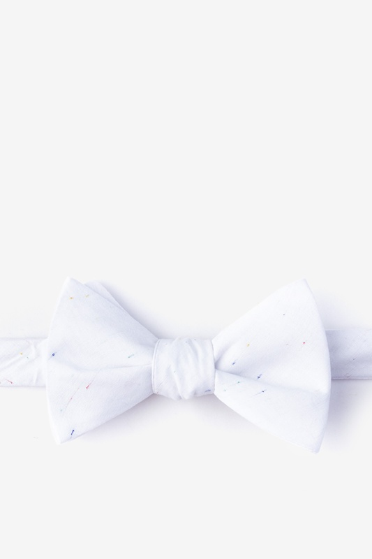Teague White Self-Tie Bow Tie Photo (0)