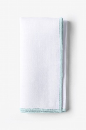 Light Blue Edged Pocket Square