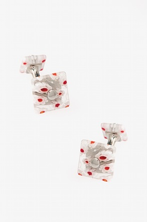 Artisinal Floral Glass Cufflinks