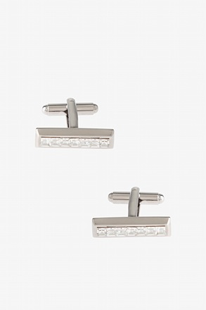 Bejeweled Solid Bar Cufflinks