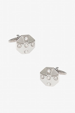 _Celtic Cross White Cufflinks_