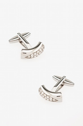 _Cut Above the Rest White Cufflinks_