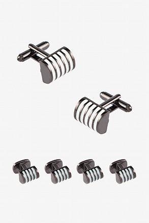 Executive Barrel Cufflink & Stud Set