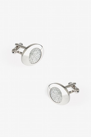 Fancy Round Setting Cufflinks