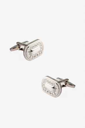 Flashy Rounded Oval Cufflinks
