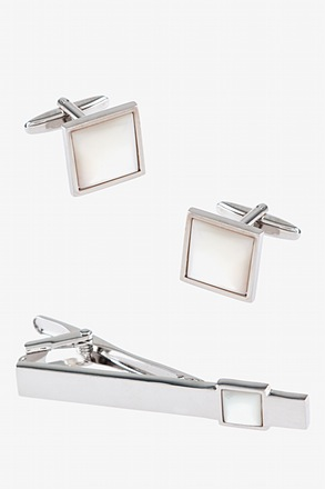 MOP Bar Cufflink & Tie Bar Set