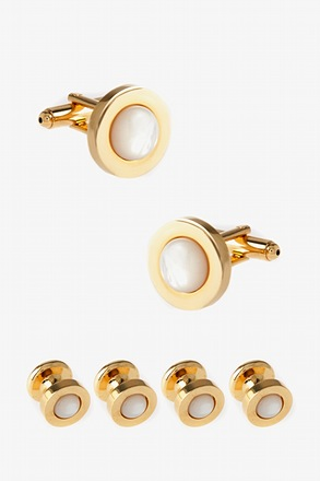 Set Solid Dot Cufflink & Stud Set