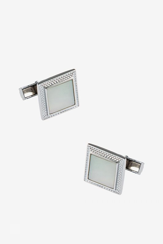 Shimmering Casing White Cufflinks Photo (0)