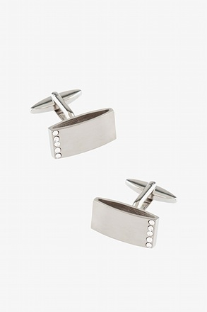 Side Line White Cufflinks
