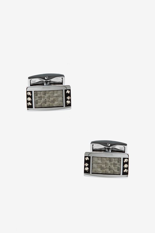 Woven Jem White Cufflinks Photo (0)