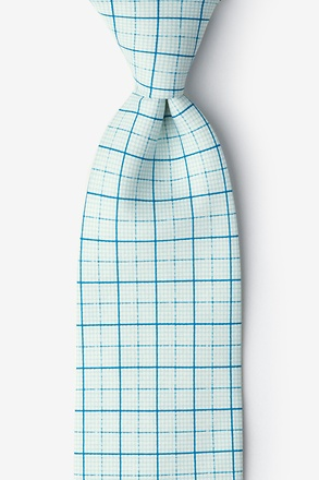 _Graph Paper White Extra Long Tie_