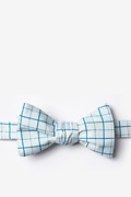 White Microfiber Graph Paper Self-Tie Bow Tie