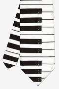Piano Keys Printed Tie by Wild Ties