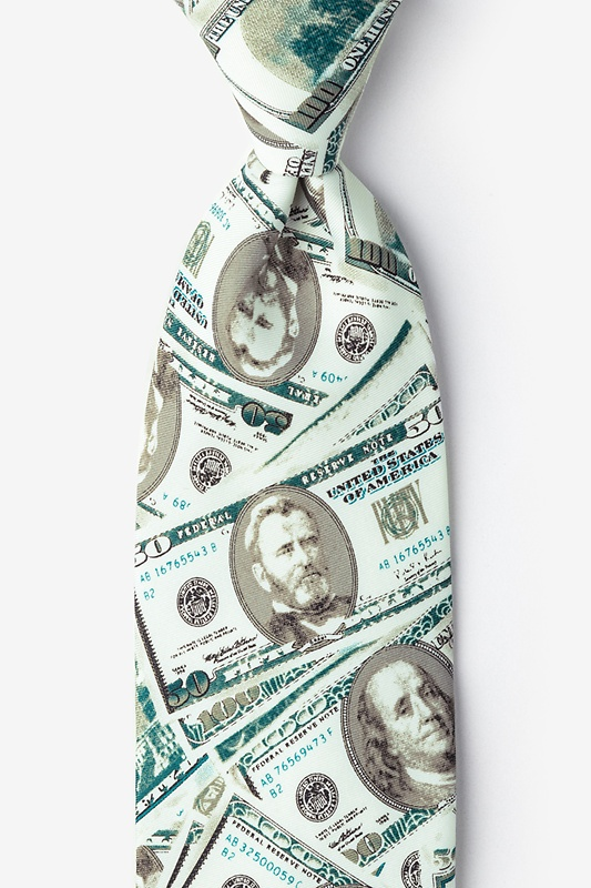 US Currency Extra Long Tie