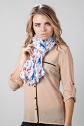 Allover Stars White Scarf by Scarves.com