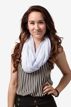 Boston Solid White Infinity Scarf