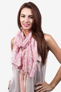Candy Hearts White Scarf by Scarves.com