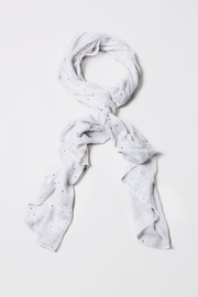 White Polyester Marilyn Sparkle Scarf
