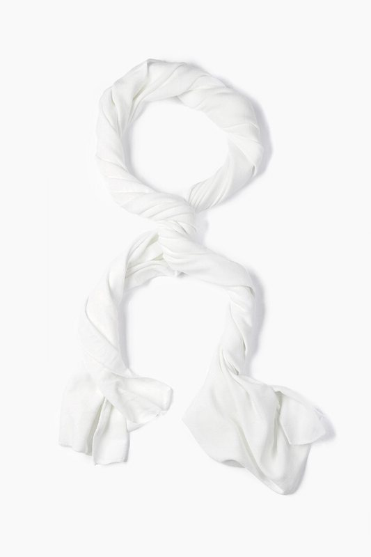Men's White Dakota Solid Scarf