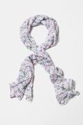 NY Glamour White Scarf by Scarves.com