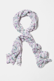 White Polyester NY Glamour Scarf