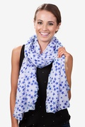 Starry Night White Scarf by Scarves.com