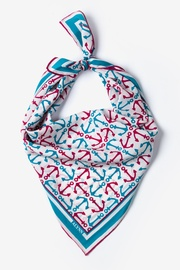 White Silk Anchor Accoutrement Neckerchief