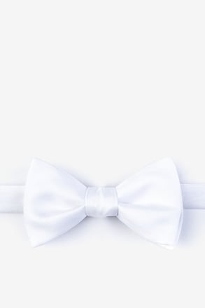 White Self-Tie Bow Tie