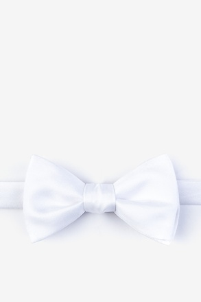 _White Self-Tie Bow Tie_