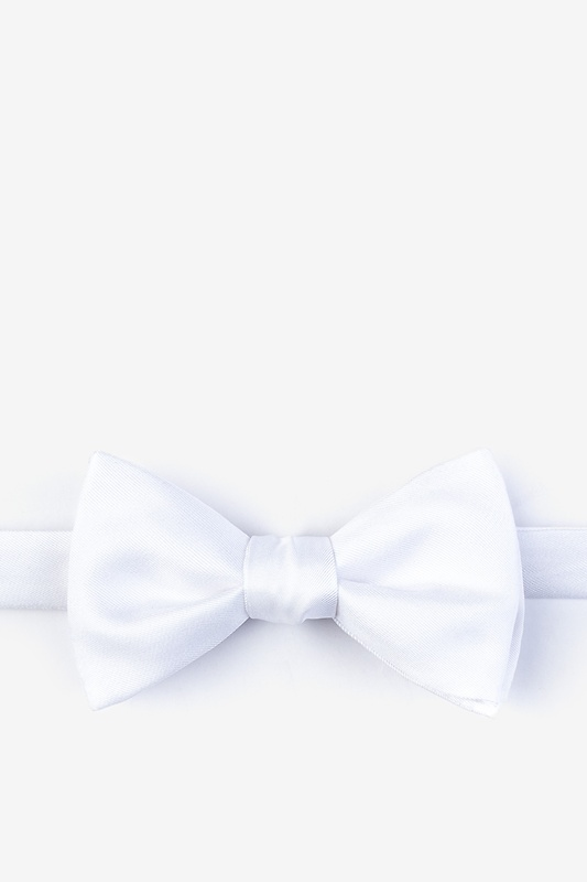 White Self-Tie Bow Tie Photo (0)