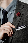 Aster Wine Lapel Pin Photo (1)