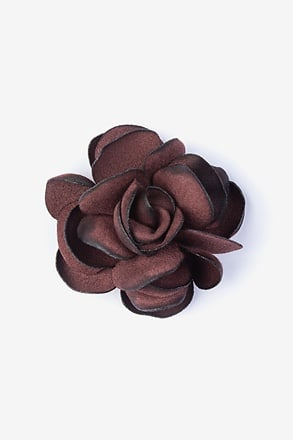 _Blooming Flower Wine Lapel Pin_