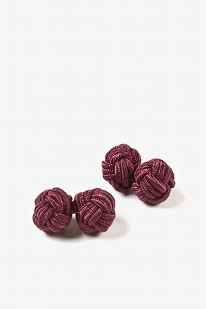 Wine Solid Knot Cufflinks