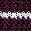 Wine Silk Briton Stripe Knit Tie