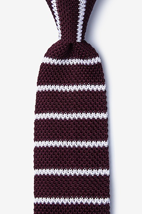Briton Stripe Wine Knit Tie