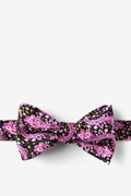 Wine Silk Ebola Butterfly Bow Tie