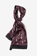 Wine Silk Ebola Oblong Scarf