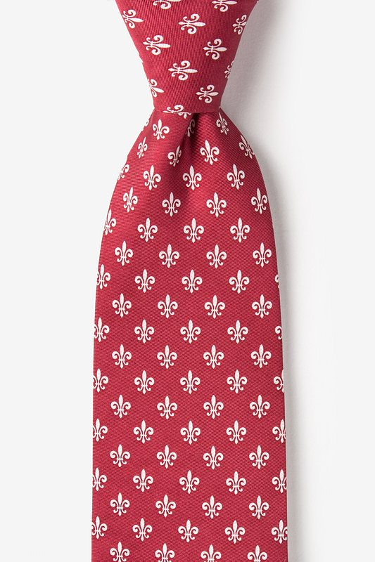 Fleur Crazy Wine Extra Long Tie Photo (0)