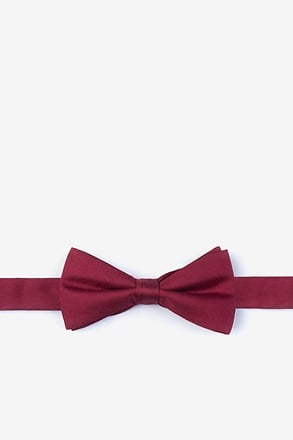 Wine Bow Tie For Boys
