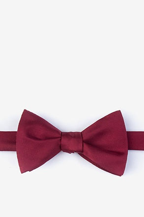 _Wine Self-Tie Bow Tie_