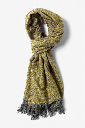 Yellow Baltimore Heathered Knit Scarf