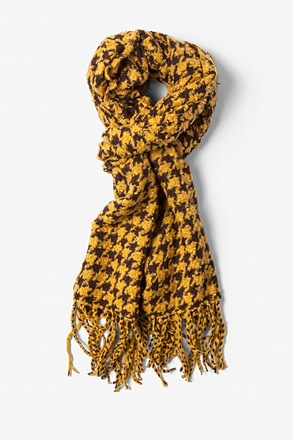 Yellow Berlin Houndstooth Scarf