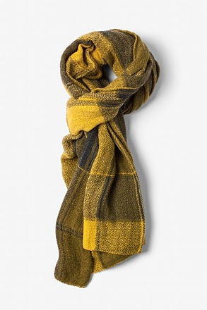 Yellow London Tartan Scarf