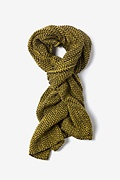 Yellow Seattle Striped Knit Scarf