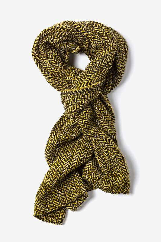 Yellow Seattle Striped Scarf by Scarves.com