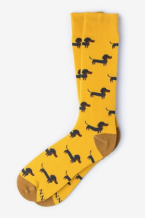 _Dachshund | Weiner Dog Yellow Sock_