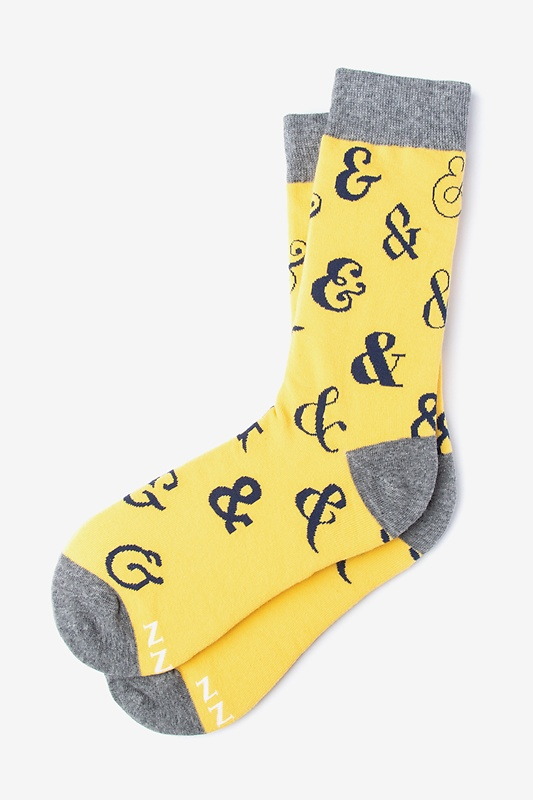 Ampersand Addict Yellow Women's Sock Photo (0)