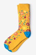 Fresh Floral Yellow Sock Photo (0)